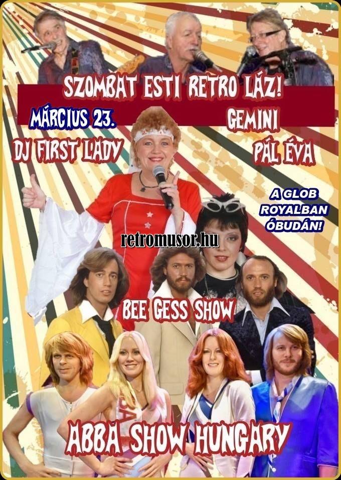 RETRO VIDEO DISCO Óbudán! Szombat esti láz: ABBA és BEE GEES show!
